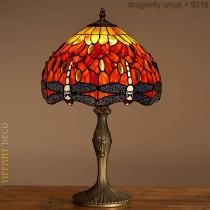 Tiffany Lamp Dragonfly Orange Small