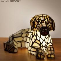 Tiffany lampje Hond