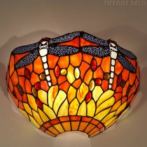 Tiffany wandlamp Dragonfly Orange