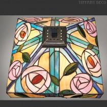 Vierkante Tiffany kap gestyleerde roos Medium