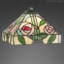 Vierkante Tiffany kap gestyleerde roos Small