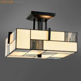 Tiffany plafonnier Art Déco Mondriaan