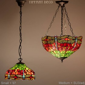 Tiffany hanglamp Dragonfly Medium