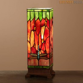 Vierkante Tiffany Lamp Libel Medium
