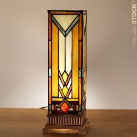 Vierkante Tiffany Lamp Art Déco Small