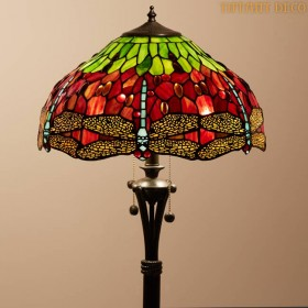 Tiffany Vloerlamp Dragonfly Medium